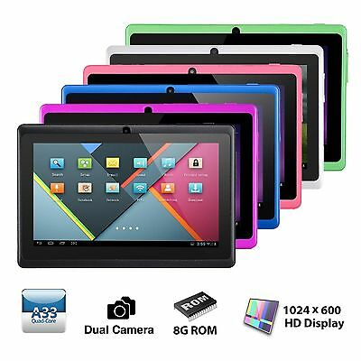 "7"" Tablet PC Quad Core Google Android 4.4 KitKat 8GB Dual Camera Bluetooth WIFI"