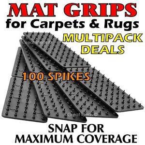 MAT Grips x 4 -  Non Slip Slide Anti Skid Carpet RUG Hallway Runner Gripper