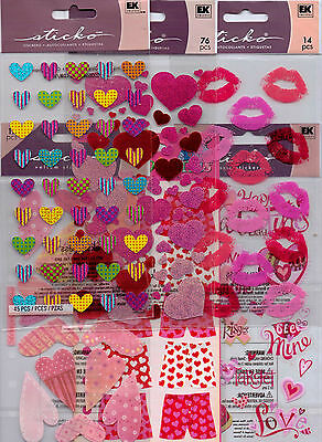 Valentines Stickers (Sticko VALENTINES stickers~Hearts, LOVE~Adorable!  QUICK)