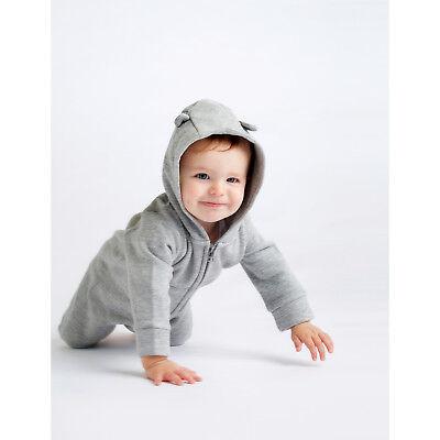 - Larkwood Fleece All In One Single Jersey Inner Hood Long Line Zip Front Pocket