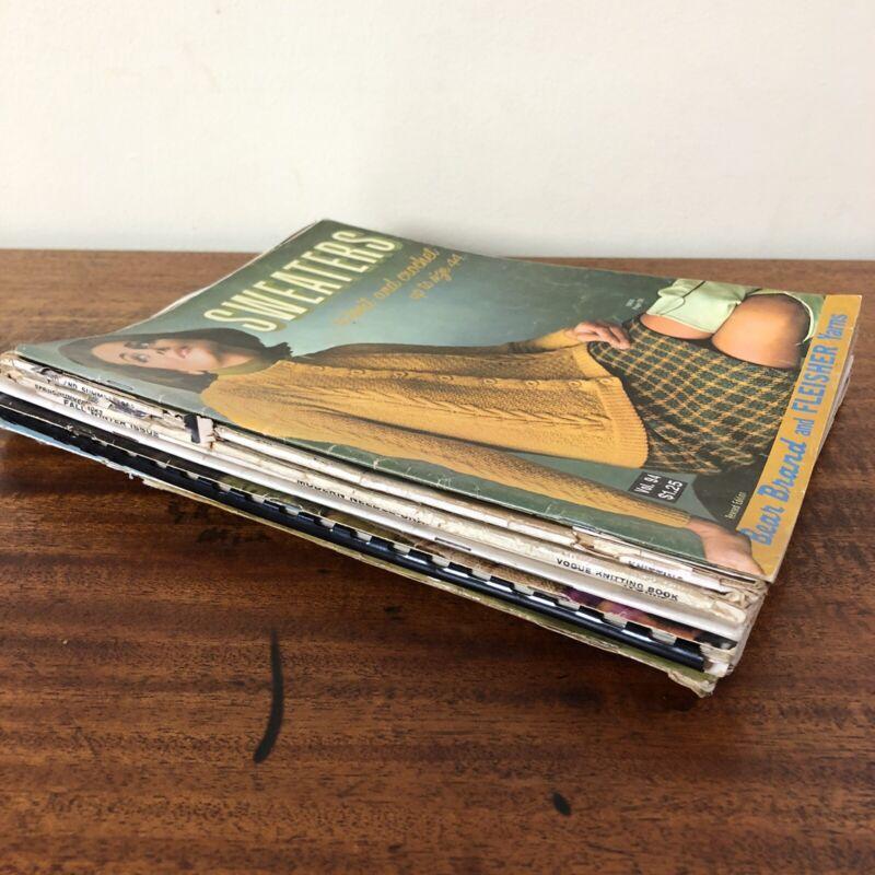 Vtg 50s 60s Knitting & Crochet Patterns Magazines / Books Lot of 11 - Bernat