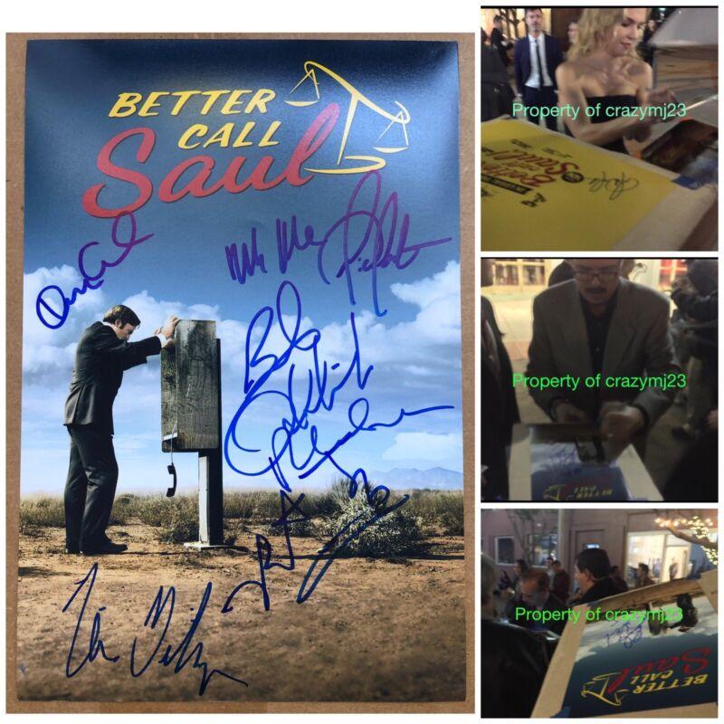 7 Signed Better Call Saul Vince Gilligan Bob Odenkirk Rhea Seehorn Autograph