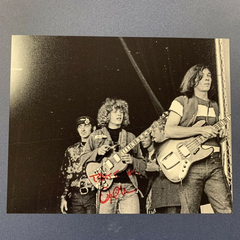 BARRY THE FISH MELTON HAND SIGNED 8x10 PHOTO AUTOGRAPHED WOODSTOCK GUITARIST COA