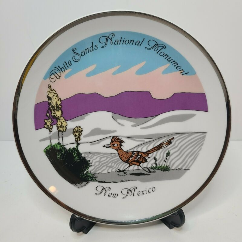 Vintage White Sands National Monument Souvenir Plate New Mexico Made in Korea