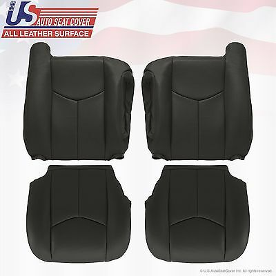 2003 To 06 GMC Sierra 1500 2500 3500 HD Upholstery leather seat cover Dark Gray 2500 Hd Seat Cover