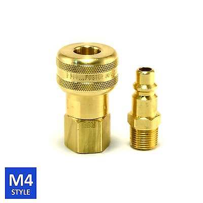 Foster 4 Series Brass Quick Coupler 3/8 Body 3/8 NPT Air Hose and Water Fittings