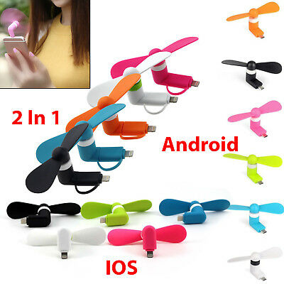Mini Portable Power Micro Cool Fan For iPhone 5 6 6s 7 Plus Samsung S4 5 Android