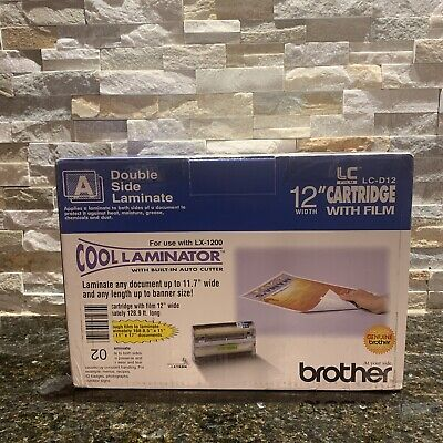Genuine Brother Lc-d9 Cool Laminator 12 Cartridge W Film Double Side Laminate