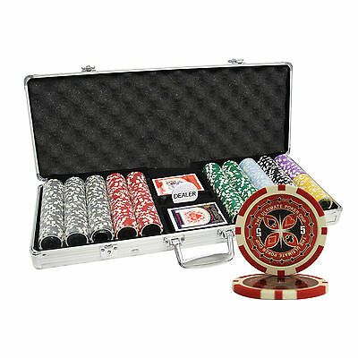 500PC 14G ULTIMATE CASINO TABLE CLAY POKER CHIPS SET CUSTOM BUILD