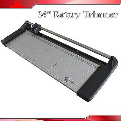 New 24In 620mm Rotary Photo Vinyl Paper Cutter Portable Trimmer +1 Extra Blade