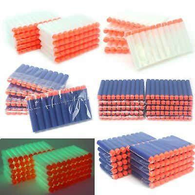 100pcs Soft Darts Round Head Bullets Blasters For Nerf N-strike Toy Guns 5colors