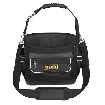 JCB Electricians Plumbers Heavy Duty Tool Open Tote & Parts Storage Bag Holder ()