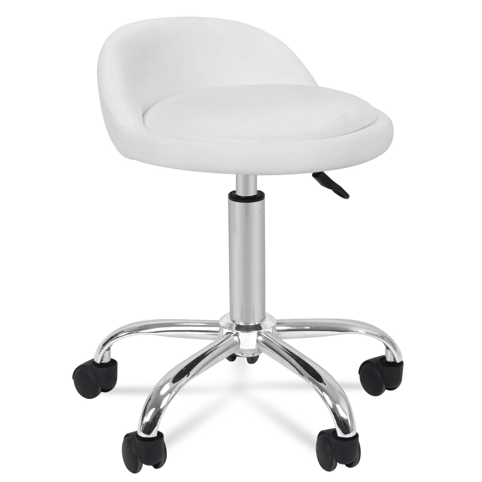 2X Adjustable Height Hydraulic Rolling Swivel Stool Spa Salon Chair w/Back Rest Health & Beauty