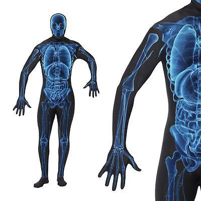Röntgenbild Skelett Zweite-Haut-Anzug Alles in Eins Unheimlich Halloween - Unheimliche Kostüm Bilder
