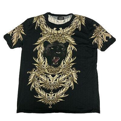 ZARA MAN, Men's Black Panther T-Shirt, Size XL (slim fit like medium), pre-owned