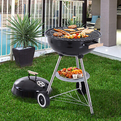 Outsunny Portable Round Kettle Charcoal Grill BBQ Outdoor Heat Control Party