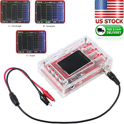 Fully Welded Dso138 2.4 Tft Digital Oscilloscope 1msps Probe Kit Acrylic Case