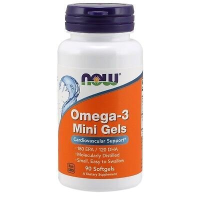 NOW Foods Omega-3 Mini Gels, 500 mg, 90 Softgels