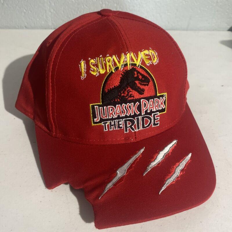Vintage I Survived Jurassic Park The Ride Snapback Hat, Universal Studios