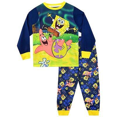 Spongebob Squarepants Pjs (Spongebob Squarepants Pyjamas | Boys Sponge Bob Pyjamas | Kids Spongebob PJs)