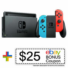 Nintendo Switch Refurbished 32GB Console Neon Blue/Red Joy-Con Warranty Included