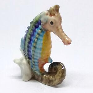Handicraft Miniature Collectible Porcelain Ceramic Seahorse Figurine