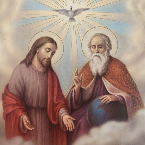 Fratelli Bonella Jesus God Angel Cherub Religious Christ Lithograph Print Poster