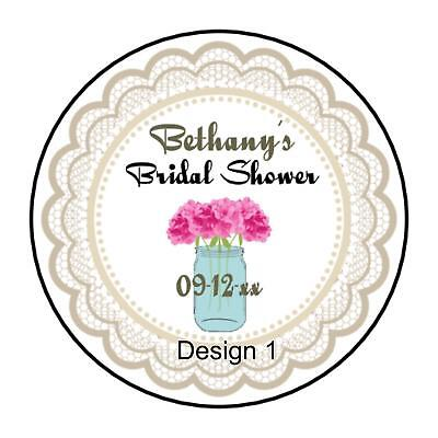 Rustic Wedding Favor Bridal Shower Round Labels Stickers - Rustic Bridal Shower Favors