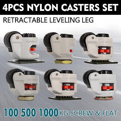 Leveling Casters Set Of 4 Gd40s-80s Retractable Aluminum Anti-vibration On Sale