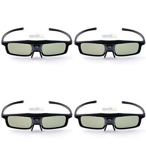 4PCS-RF-Bluetooth-Active-Shutter-3D-Glasses-For-Epson-2030-750HD-Projecotor