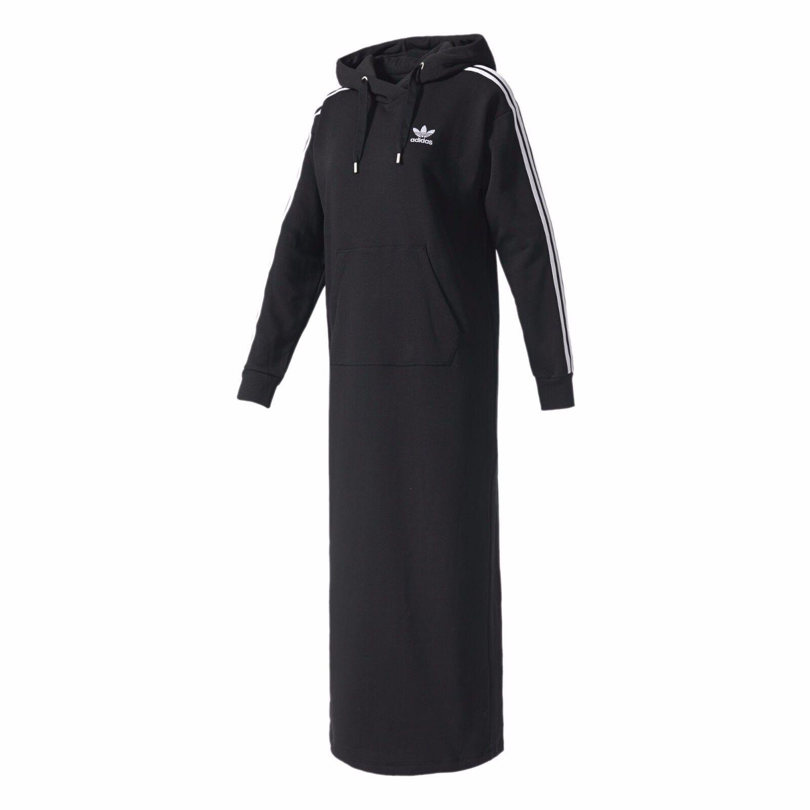 Xs 3 Originals S Black Long Dress Women Stripes M Maxi Adidas Hoodie vn0NOPym8w
