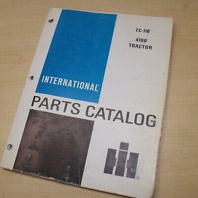 Ih International 4100 Tractor Parts Manual Book Spare Catalog Farm List 1972