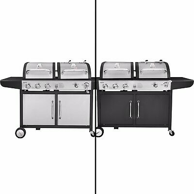 Combination Gas Grill - Royal Gourmet BBQ Gas Charcoal Grill Dual Fuel Combo