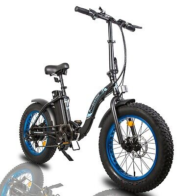 """ECOTRIC 20"""" 500W 12.5Ah Folding Electric Bicycle e-Bike Fat tire Pedal Assist"""