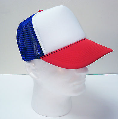 STRANGER THINGS HAT ~ DUSTIN HALLOWEEN COSTUME ~ RETRO TRUCKER CAP ~ ADJUSTABLE (Retro Halloween Costume)