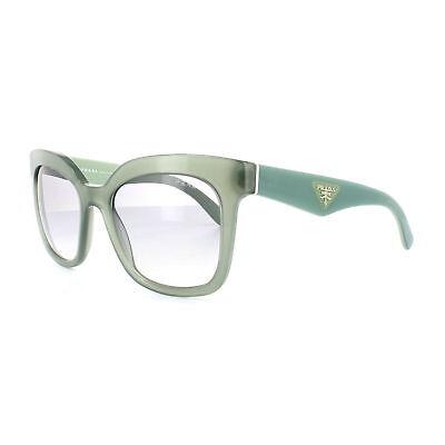 e5fb708128 Prada Sunglasses PR24QS UEI4P2 53MM Triangle Opal Dark Green Grey Gradient