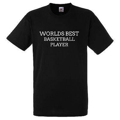 WORLDS BEST BASKETBALL PLAYER BLACK T