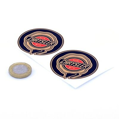 Chrysler Badge STICKERS Rosette Car Decal Vinyl 50mm x2 Viper 300c Crossfire