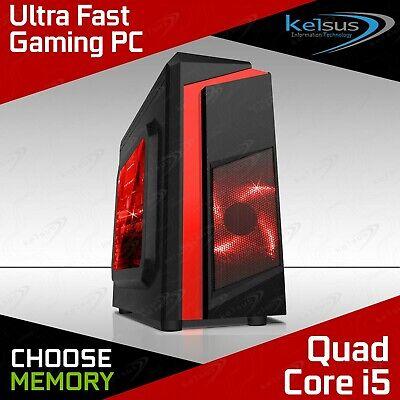Computer Games - Ultra FAST Quad Core i5 Gaming PC 16GB RAM 2TB HDD Windows 10 Desktop Computer