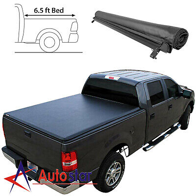Soft Roll-Up Tonneau Cover For 1999-2016 Ford F250 F350 Super Duty 6.5ft Bed