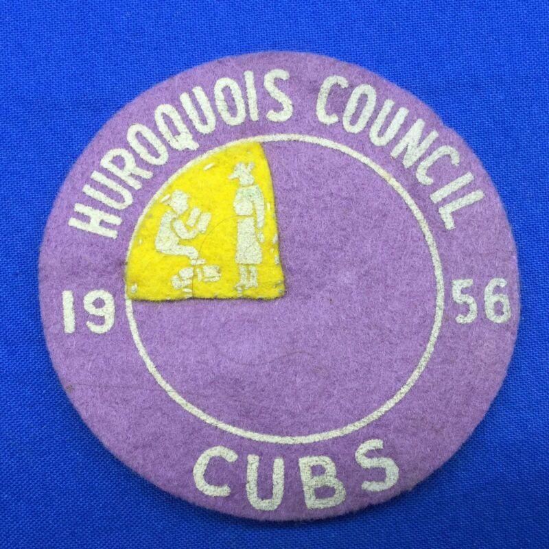 Boy Scout 1956 Huroquois Council Cubs Felt Patch With 1 Segment