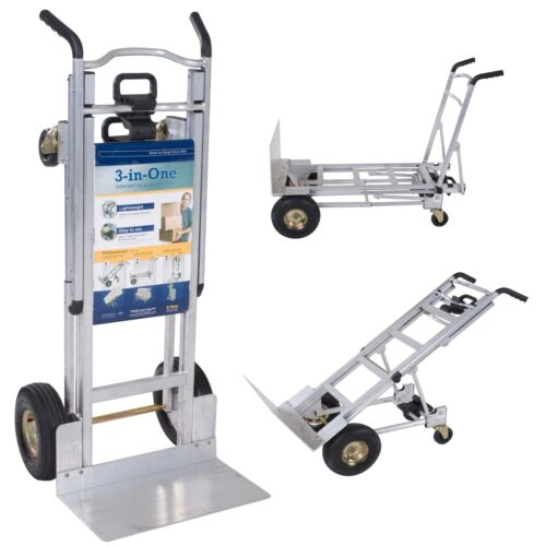 Multi-Position Hand Truck 1000 lb Capacity Dollies Truck Dolly Industrial Hand