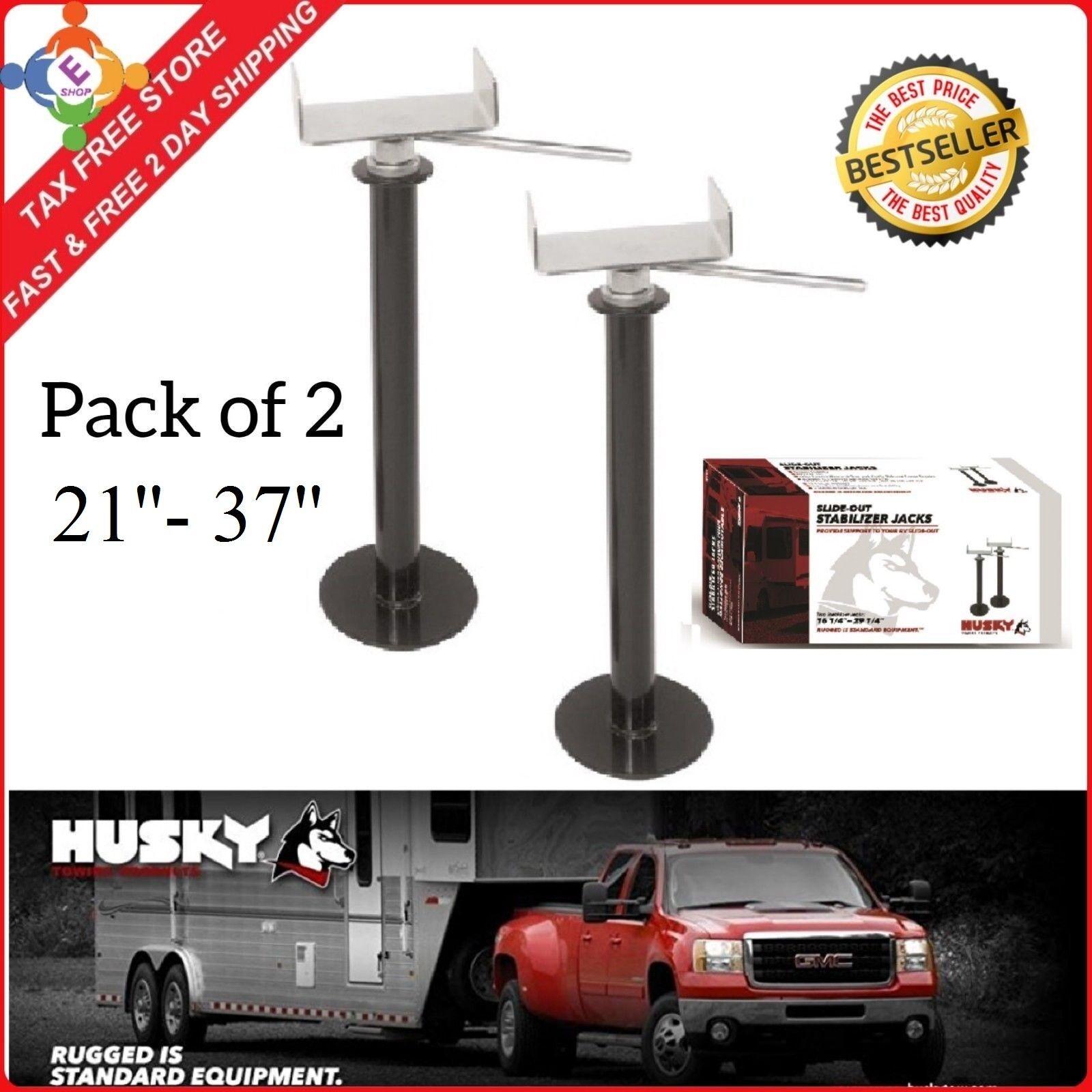 2 Pack Camper Stabilizer Slide Out Adjustable Lift Wheel Jack Travel Trailer RV