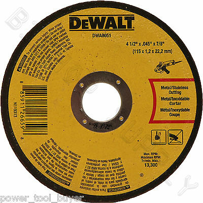 100pc Dewalt DWA8051 Metal Cut Off Wheel ...