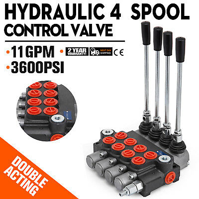 4 Spool Hydraulic Directional Control Valve 11gpm Motors 4300psi 40lmin