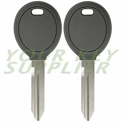 (Pair Transponder Chip Ignition Car Key Replacement Blank for Chrysler Dodge Jeep)