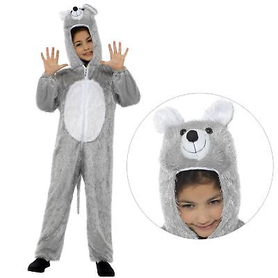 Fairytale Costumes For Boys (Kids Boys Girls Fairytale Animal Mouse Rat Jumpsuit Fancy Dress Book Day)