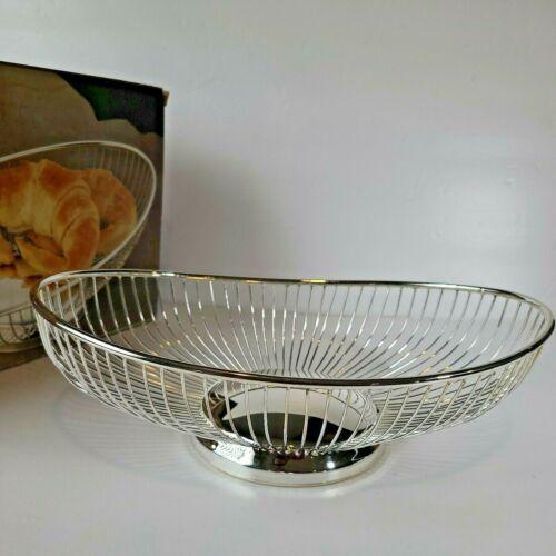 Silverplated Bread Fruit Basket International Silver Co. New in Box Vintage
