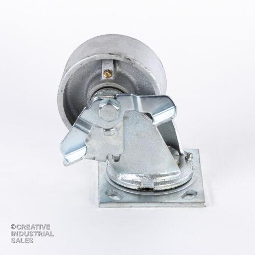 """4"""" x 2"""" Swivel Caster Steel Wheel w/ Brake 700lb each Tool Box"""