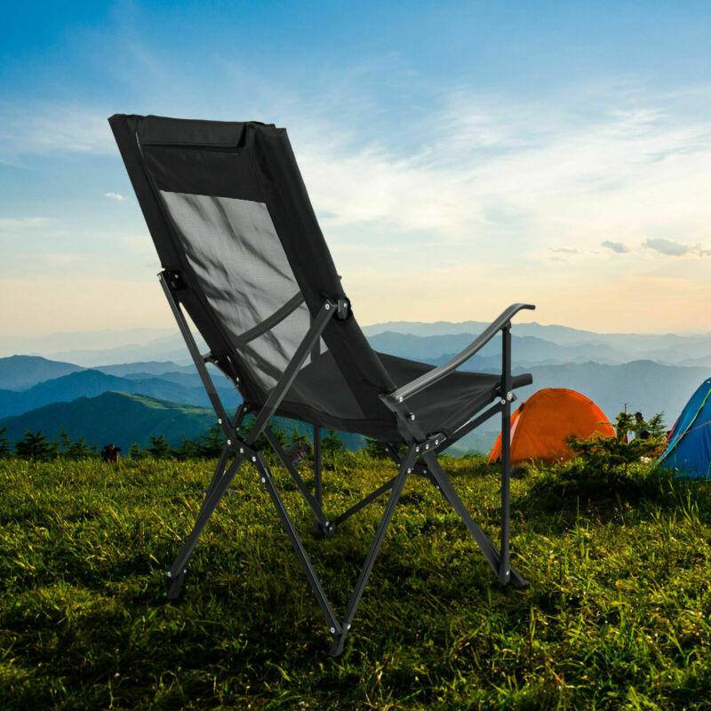 450LBs High-back Ultralight Portable Camping Chair Comfortable w/Headrest
